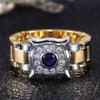 Ring 62  Fingerring Herrenring Gold Silber zweifarbig  Herrenschmuck Goldring