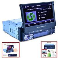 "7""  TOUCH SCREEN SINGLE DIN CAR MP5 PLAYER RADIO STEREO GPS SAT NAV 8G MAP CARD"