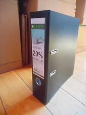 2 x  A4 Black Leitz 180 Degrees Plastic Lever Arch File, 80 mm