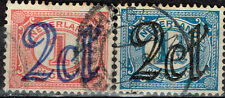 Netherlands Numerals Suarcharged classic stamps 1823