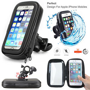 Bike Bicycle Handlebar Mobile Holder Waterproof Case For All iPhone's (13/13Pro)