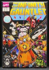"Infinity Gauntlet #1 Comic Book Cover 2"" X 3"" Fridge Magnet. Thanos Infinity War"