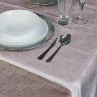Damask Pink Flower Jacquard Tablecloths Rectangle Table Cloth Tableware Dining