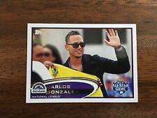 2012 Topps Update CARLOS GONZALEZ Short Print Variation #US259