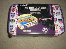 Brand New Fit & Fresh Bento Lunch Kit with Insulated Bag & Removable Ice Packs