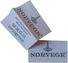 400 High Quality Damask Custom Artwork Center Fold Clothing Woven Label From U.S