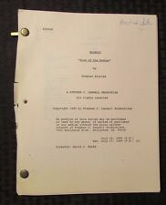 1989 WISEGUY Television Show Script Episode #306 Sins Of The Father FVF 56p Rev.