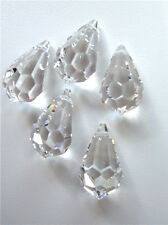 5 x 20 mm SWAROVSKI CRYSTAL Style 8641 - Faceted Crystal Glass Drops.