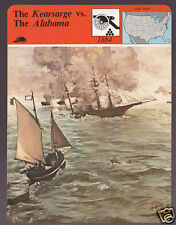 THE KEARSARGE vs THE ALABAMA 1979 STORY OF AMERICA CARD