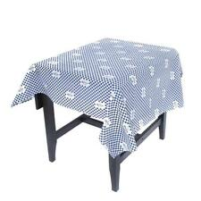 New Corona Tablecloth Blue And White Check Square Mexican Party Genuine Article