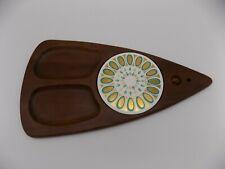 """Fred Press 18"""" Cheese Board Cutting Tray Mid Century Modern Vintage Sere Wood GU"""