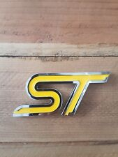 ST Trunk Yellow Metal Tail Badge Rear Logo Sticker Kit For Ford Fiesta/Focus ST