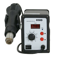 858D Hot Air Gun Kit Rework Station SMD Iron Soldering Solder Holder Voltage 110