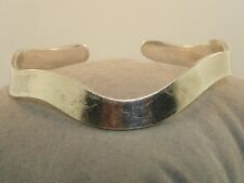 Vintage Taxco Mexico Modernist Sterling Silver Cuff Signed Lvr!