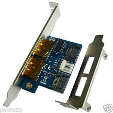 Dual SATA 7pin to 2 Power over eSATA Port 12V+5V eSATAp(eSATA+USB Combo) Adapter