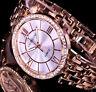 Excellanc Damen Armband Uhr Silber Rosegold Farben Metall Strass 17