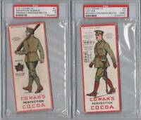 1920's Cowans V15 Canadian Militia Trading Cards Near Set of 13/15 4 PSA Graded