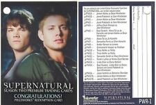 Supernatural Season 2 PWR-1 Redemption Card Used Clean PW17B