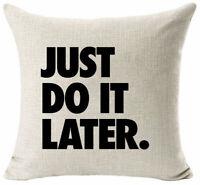 Cotton Sofa Home Cover Cushion Pillow Case Decor Throw Linen Words Intersting