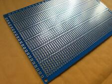 2x pcb 10x15cm 5er Streifenraster Veroboard Lochraster Platine Leiterplatte vero