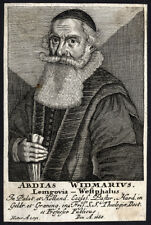 Antique Print-ABDIAS WIDMARIUS-REFORMATION-CLERIC-PORTRAIT-1700