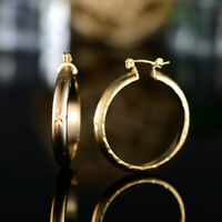 Sevil 18k Gold Plated Round Hoop Earrings