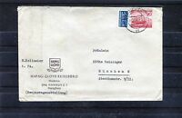 BRD Michel Nr. 152 als Einzelfrankatur auf Bedarfsbrief - b0635
