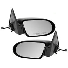 Pair Set Manual Remote Side View Mirrors Glass & Housing for Chevrolet Geo Metro (Fits: Geo)