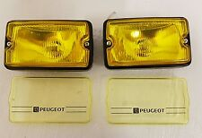 Peugeot 205 CTI driving lights lamps NEW YELLOW GLASS & Yellow Lens Covers