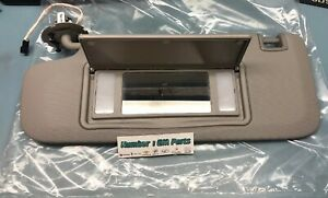 New Genuine GM 95034259 Drivers Side Roof Sun Visor Left Titanium 11-15 Cruze