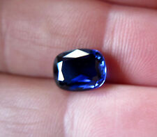SOMPTUEUX SAPHIR VERNEUIL  BLEU  ROYAL  Taille COUSSIN 8x10 mm..3,40cts..IF
