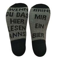 1 Paar BRING MIR EIN BIER Lässiger Brief in Baumwollsocken Winter Mode Socken