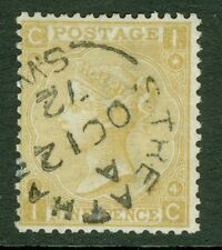 SG 110 9d straw. Very fine used with a Streatham CDS, Oct 12th 1872. Nice deep..