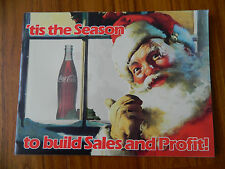 1985 COCA-COLA CHRISTMAS PROMOTION PLANNING GUIDE WITH SUNDBLUM SANTA