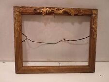 Antique wood and gesso picture frame. 7 by 9, # 12008