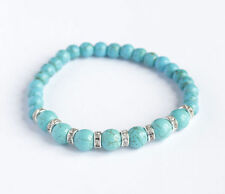 Natural Turquoise Beaded Fine Bracelets