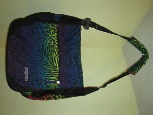 Jansport Padded Shoulder Laptop Messenger Bag Rainbow Animal Print