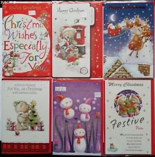 """Pack of 6 GENERAL Christmas Cards (Pack B) Beautiful Quality 9.5"""" x 6"""""""