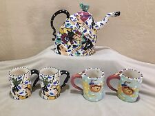"Teapot and 4 Cups - ""PARTEA"" by Simson CE # 16 of 65 made 1997 -Mint Condition"
