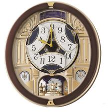 Seiko QXM356B 18 Hi-fi Melody in Motion Wall Clock With Rotating Pendulum