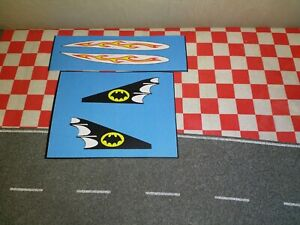 Corgi Batmans  Early version with the metal fin Batboat Set of Stickers