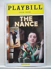 THE NANCE Playbill NATHAN LANE / CADY HUFFMAN Opening Night NYC 2013