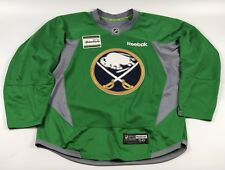 Pro Stock Pro Return 58 Reebok Edge 3.0 Green Practice Jersey Buffalo Sabres 864a0f3d3