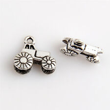 10x Tractor Tibetan Silver Charms Pendants Jewelry Making Findings HN225