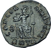 GRATIAN Genuine 378AD Antioch Authentic Ancient Roman Coin Rome as Roma i65940