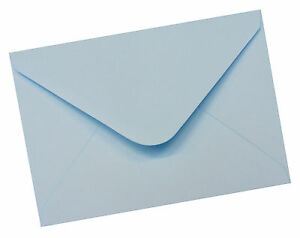 "12 x C6 Pastel Blue Premium Envelopes 114 x 162mm - 6 x 4"" - 100gsm"