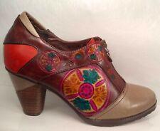 Spring Step L'Artiste Q-RAINA Hand Painted Ankle Boots US 9 EU 40 Minimal Wear