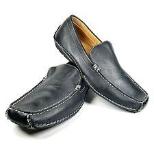 Apt. 9 Black Leather Driving Mocs Mocassins Shoes Men Size10 103114