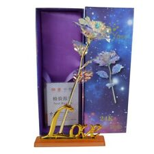 Valentine's Day Love Gift Decor Artificial  Gold Plated Rose 24K Dipped Flower