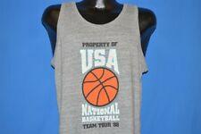 vtg 80s USA NATIONAL BASKETBALL TEAM TOUR 1988 TANK TOP TRI BLEND t-shirt MEDIUM